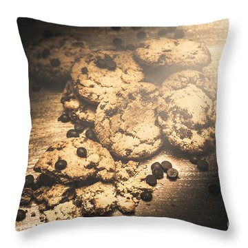 Home Biscuit Baking Throw Pillow