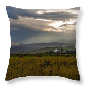 Home By The Sea Scotland Throw Pillow