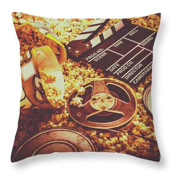 Film Industry Throw Pillows
