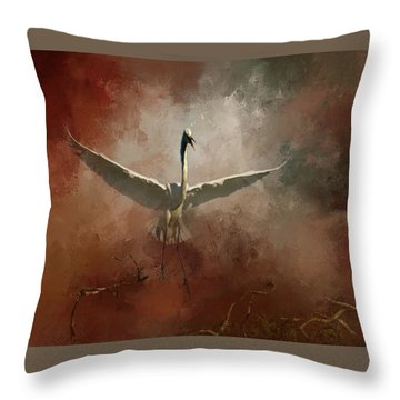 Throw Pillow featuring the photograph Home Coming by Marvin Spates