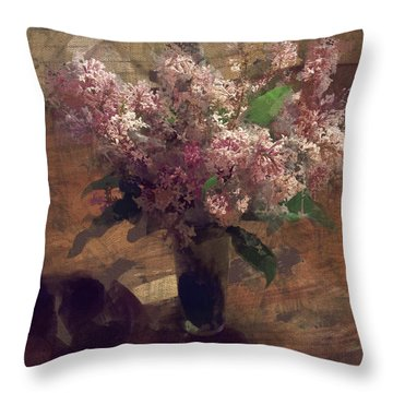 Home Flowers Throw Pillow
