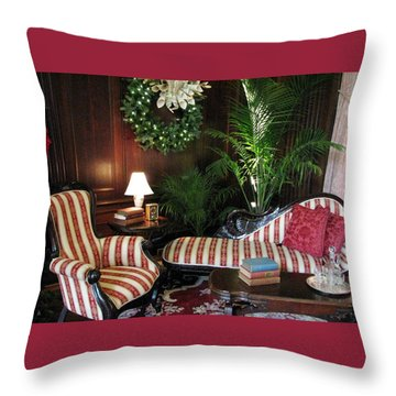 Home For The Holidays Throw Pillow by Angela Davies
