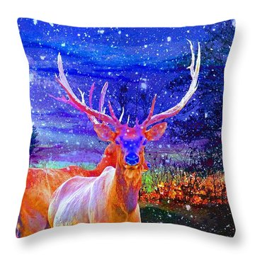 Home For The Holidays Throw Pillow by Mike Breau