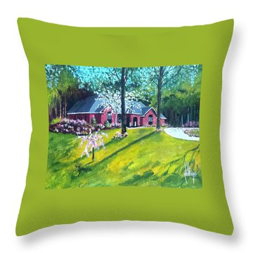 Home In Batesville, Ms Throw Pillow