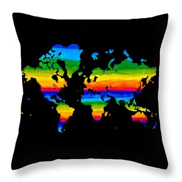 Home In Black Throw Pillow by Sarah Krafft