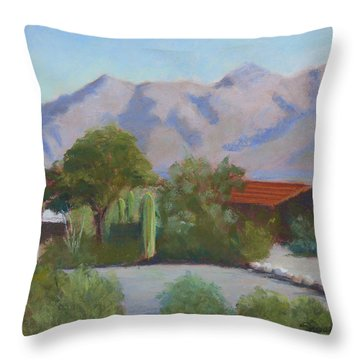 Home In The Catalinas Throw Pillow by Susan Woodward