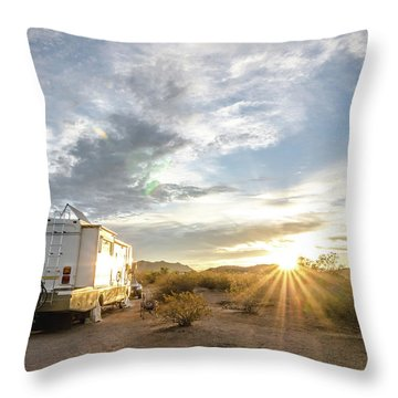 Home In The Desert Throw Pillow