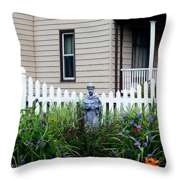 Home In The Heartland Oil Throw Pillow