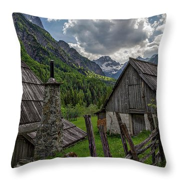 Throw Pillow featuring the photograph Home In The Slovenian Alps #2 by Stuart Litoff
