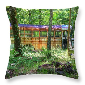 Home In The Woods Throw Pillow