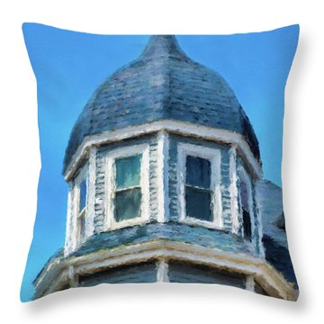 Home In Winthrop By The Sea Throw Pillow