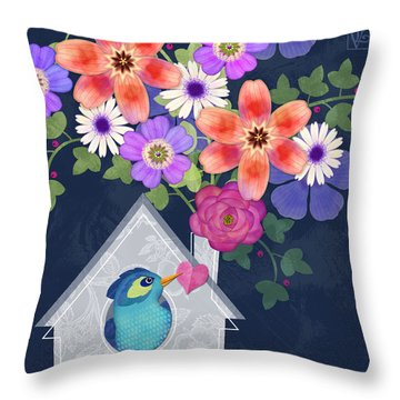 Home Is Where You Bloom Throw Pillow