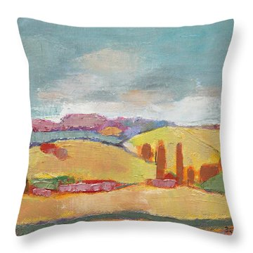 Throw Pillow featuring the painting Home Land by Becky Kim