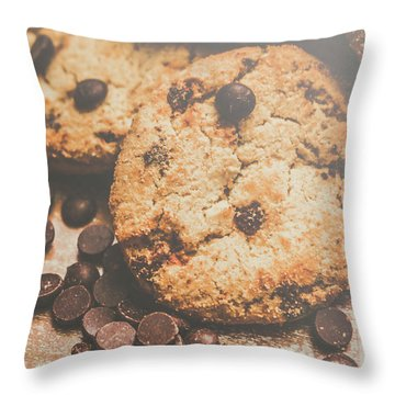Home Made Biscuit Batch Throw Pillow
