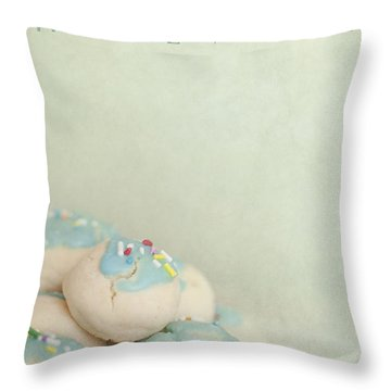 Home Made Cookies Throw Pillow by Priska Wettstein
