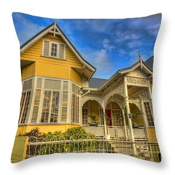Home Throw Pillow by Nadia Sanowar