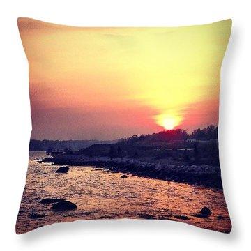 A Days End Throw Pillow