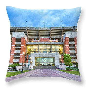 Home Of Champions -- Bryant-denny Stadium Throw Pillow