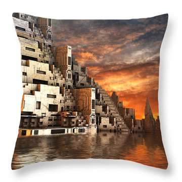 Home Of The Ancients Throw Pillow