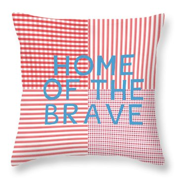Home Of The Brave- Art By Linda Woods Throw Pillow