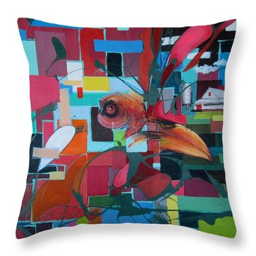 Home Of The Chicken Throw Pillow