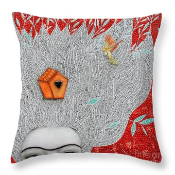 Home On My Mind Throw Pillow by Natalie Briney