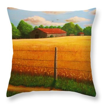 Home On The Farm Throw Pillow