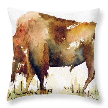 Home On The Range Buffalo Throw Pillow