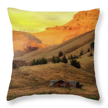 Home On The Range In Antelope Oregon Throw Pillow by David Gn