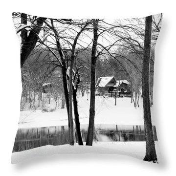 Home On The River Throw Pillow by Kathy M Krause
