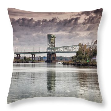 Cape Fear Crossing Throw Pillow by Phil Mancuso