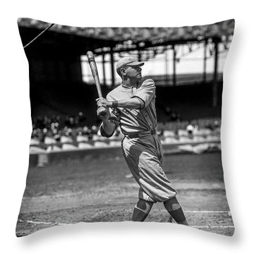 Home Run Babe Ruth Throw Pillow