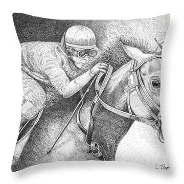 Home Stretch Throw Pillow by Lawrence Tripoli