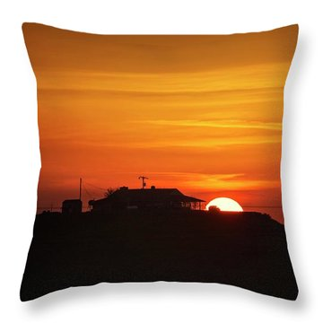 Throw Pillow featuring the photograph Home Sweet Farm Home by Quality HDR Photography