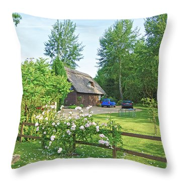 Home Sweet Home Throw Pillow by Andrew Middleton