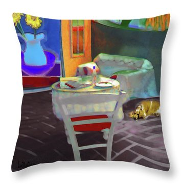 Home Sweet Home Painting Throw Pillow