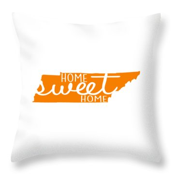 Throw Pillow featuring the digital art Home Sweet Home Tennessee by Heather Applegate