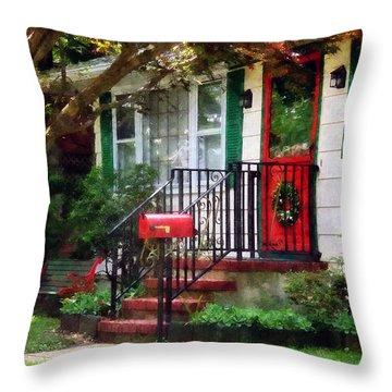 Home That Always Celebrates Christmas Throw Pillow by Susan Savad