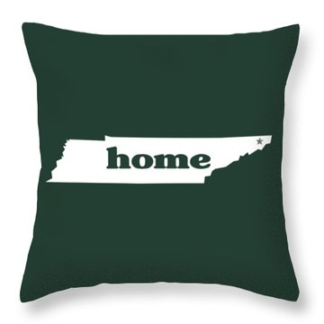 home TN on Green Throw Pillow by Heather Applegate