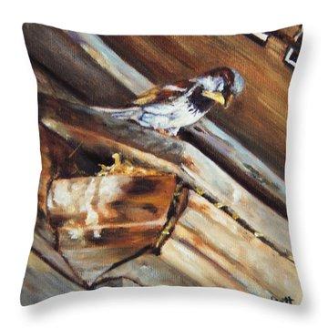 Home Under The Sign Throw Pillow by Lori Brackett