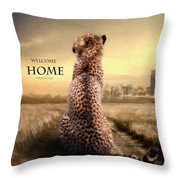 Throw Pillow featuring the photograph Home2 by Christine Sponchia