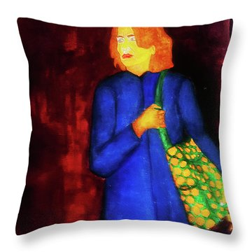 Homeless Girl Throw Pillow
