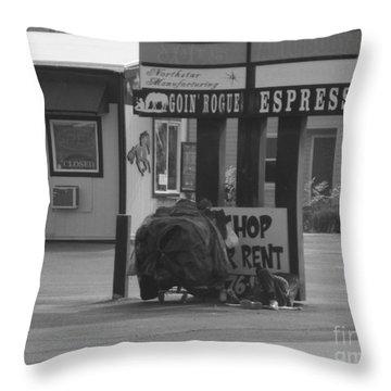 Homeless Hoarder Throw Pillow