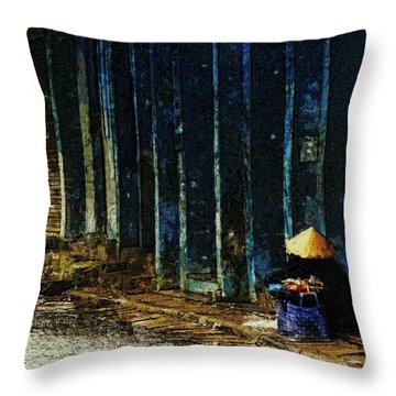 Homeless In Hanoi Throw Pillow by Cameron Wood