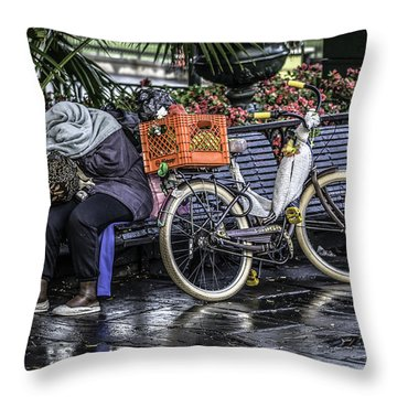 Homeless In New Orleans, Louisiana Throw Pillow