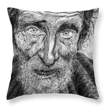 Homeless Mr. Craig Throw Pillow
