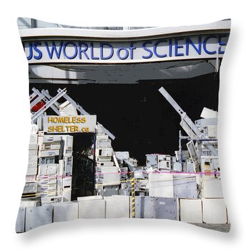 Homeless Shelter Throw Pillow