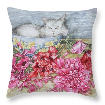 Homely Throw Pillow by Kim Tran