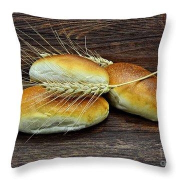 Homemade Buns Throw Pillow