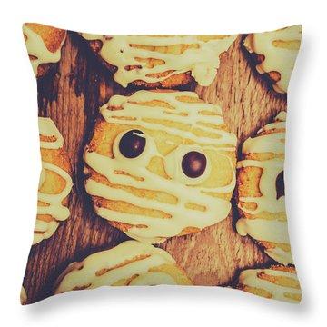Homemade Mummy Cookies Throw Pillow